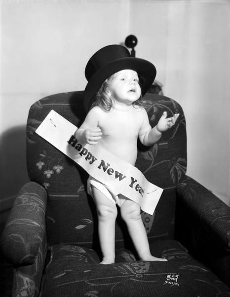 """""""Miss 1935"""", one year old Lois Ann Endres, daughter of Emil and Berniece Endres from Milwaukee"""